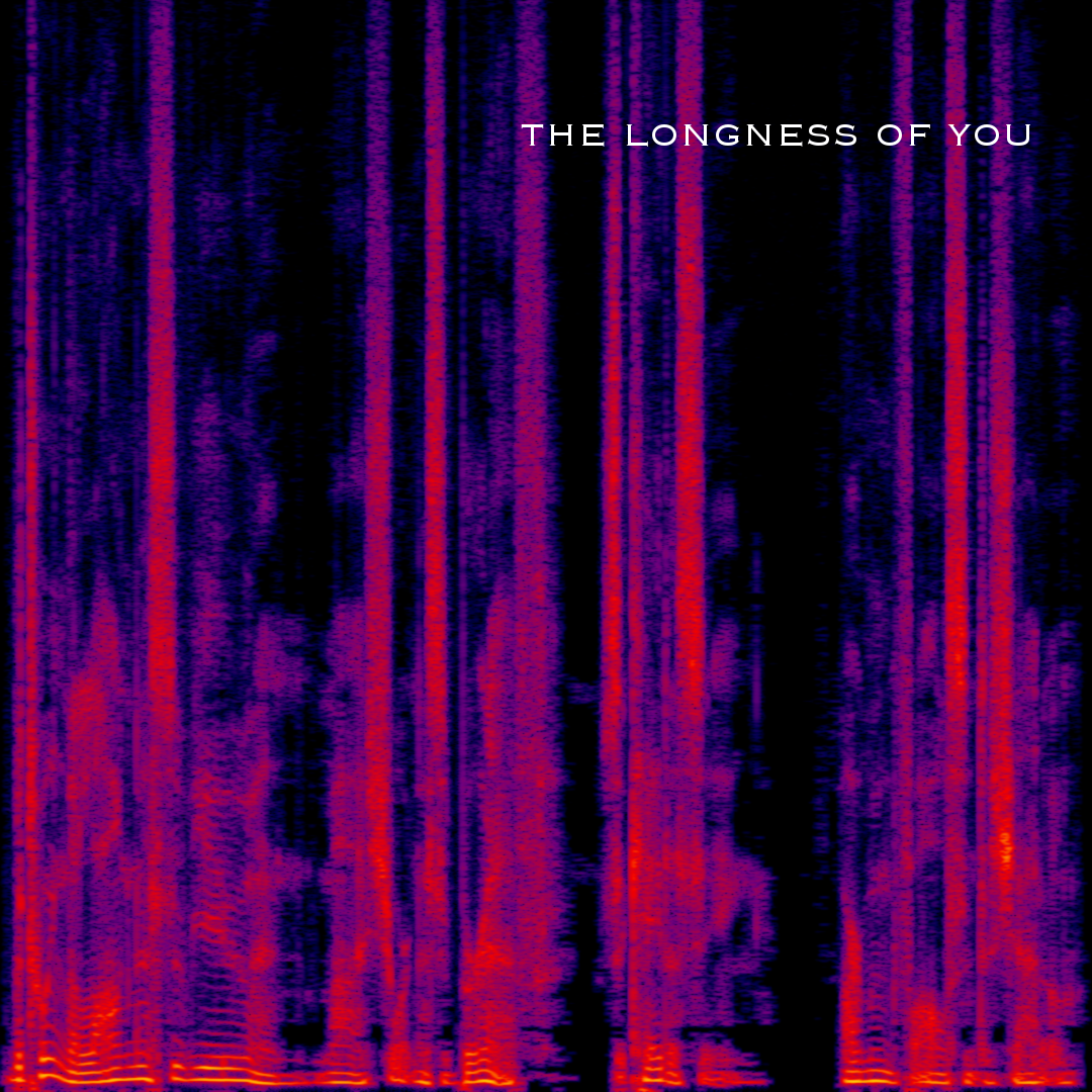 Spectrogram of the audio file, with the title overlaid