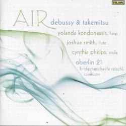 Air by Debussy ,   Takemitsu ;   Yolanda Kondonassis ,   Joshua Smith ,   Cynthia Phelps ,   Oberlin 21  &   Bridget Michaele Reischl