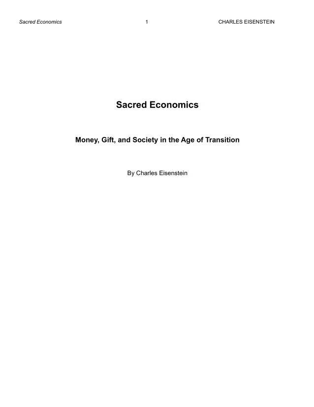 Sacred Economics by